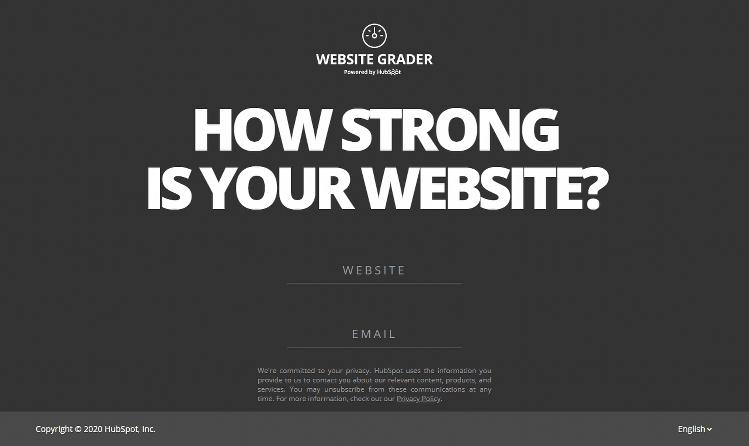 HubSpost Free Website Grader - SEAM Services
